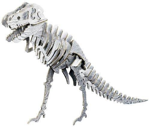 ペーパーパズル 大 ティラノサウルス メタリック調 シルバー PP106-02SL