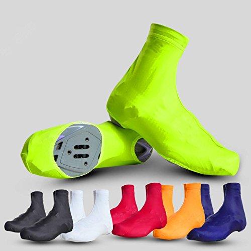CAMTOA 1 Coppia Cycling Shoes Covers Antipolvere Lite Copriscarpe Protezioni Sport scarpe nero L