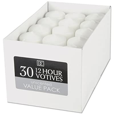 Unscented 12 Hour Votive Candles 13x18 30pkg-white by Darice