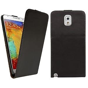 kwmobile® Flip Case Schutzhülle Kunstleder für Samsung Galaxy Note 3 Hülle im Flip Cover Style in Schwarz - kratzsicher und aufklappbar