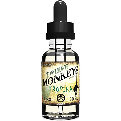 twelve-monkeys-tropika-30ml-e-liquid-zero-nicotine-perfect-balance-of-exotic-tropical-fruits-same-da
