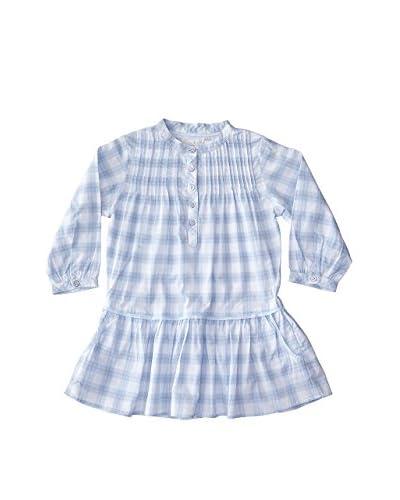 Château de Sable Vestido Prune Shirt Dress Lt Blue & Beige Checks