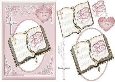 Bilderrahmen für Babyfotos für Tauffeier für Mädchen .. mit Bibelzitat von Gahler Erikaviolett