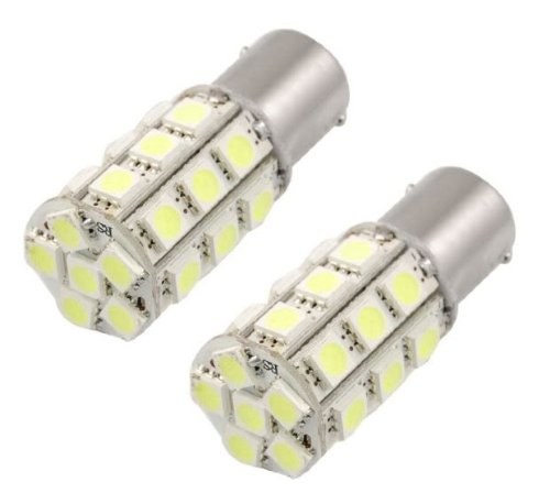 Cutequeen 2Pcs Led Car Lights Bulb 1156 S25 Ba15S 27Smd 27-Smd 5050 Led Backup Signal Blinker Tail Light Bulbs 12V Replacement For #1156 1141 1073 1093 1129 93 -White