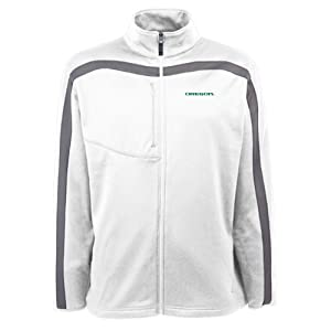 Oregon Ducks Jacket - NCAA Antigua Mens Viper Performance Jacket White by Antigua