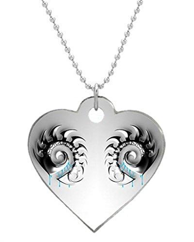 Starcraft Zerg Hydralisk Fantasy Art Custom Aluminum Heart Shaped Dog Tag,ID Pet tag Pendant Necklace Chain