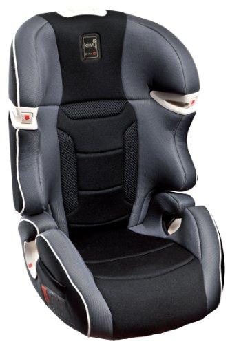 Kiwy SLF23 14003KW03B -  Seggiolino auto per bambini, gruppo 2/3 (15/36 kg), con adattatore Q-Fix per Isofix, certificato ECE R44/04, colore: Grigio carbone