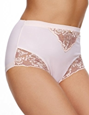 Per Una Floral Embroidered High Waisted Knickers