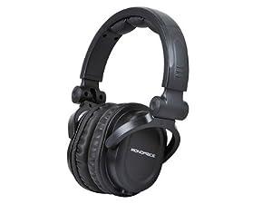 Monoprice 108323 Premium Hi-Fi DJ Style Over-the-Ear Pro Headphone, Black