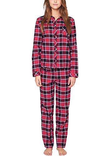 s.Oliver Damen Zweiteiliger Schlafanzug 25.411.88.5539, Kariert, Gr. 36, Mehrfarbig (purple/pink check 45N1)