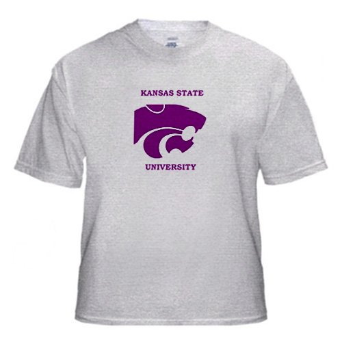 Kansas State University - Youth Birch-Gray-T-Shirt Large(14-16)