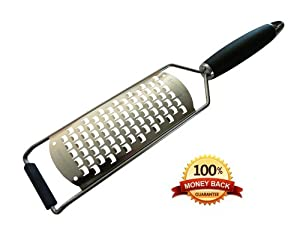 Best Stainless Steel Extra Coarse Grater; Life Time Guarantee- Excellent Grater for Soft... by LifeStyle Hill