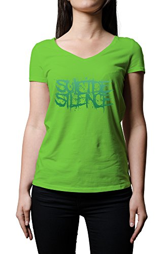 """Suicide Silence con Logo-Maglietta con scollo a V, da donna, colore: verde """" verde XX-Large"""