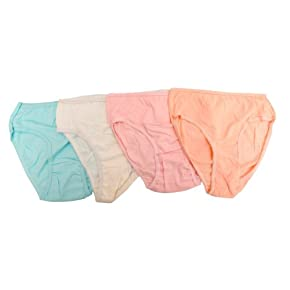 Clearance - Ladies/Womens Plain 100% Cotton Bikini Briefs Underwear (Pack of 10)