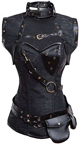 Women's Retro Goth Steel Boned Corsets
