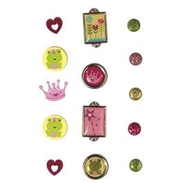 Rayher - 7924100 - tachuelas princesa, SB-tarjeta, 14 pcs, varios diseños