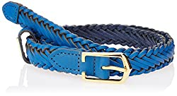 Titan Blue Leather Women's  Belt (TB111LW1BUL)