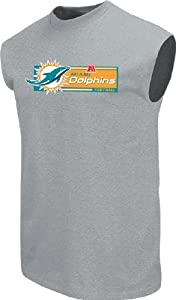 Miami Dolphins Men's Grey Critical Victory VII Sleeveless Shirt by VF by VF