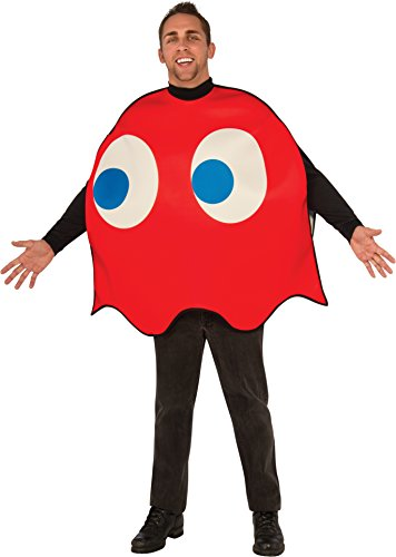 Men's Pac-Man Blinky Ghost Foam Costume by Rubies. Officially Licensed.