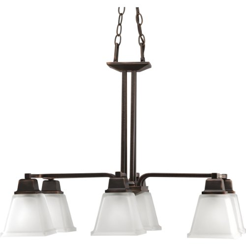 B002CYYI4G Progress Lighting P4003-74 6-Light North Park Chandelier, Venetian Bronze