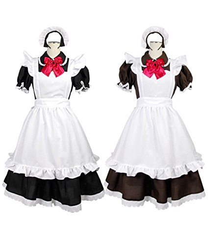 [MOMOER Handmade Cheaper Cosplay Costumes Custom-made French Maid Dress (Black White)] (Custom French Maid Costumes)