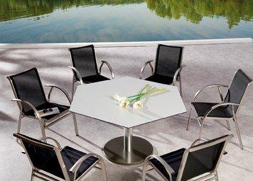 Gartengruppe Gartenmöbel Gartengarnitur Gartensitzgruppe 7-teilig Aluminium günstig bestellen