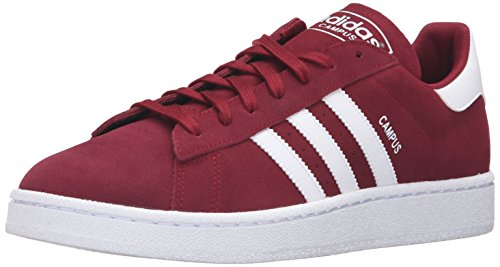 Adidas Originals Men's Campus Fashion Sneaker, Collegiate Burgundy/White/White, 10 M US