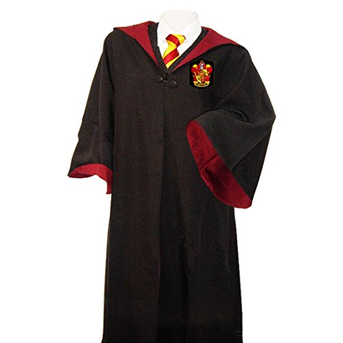[Fashion A+ Magic Robe Four College Cloak Halloween Cosplay Cape] (Hogwarts Robes Gryffindor)