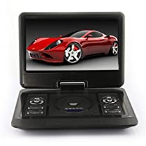 "15"" inch Portable DVD Player TV USB Card Reade Game FM Radio Swivel LCD RMVB"