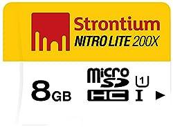 Strontium Nitro Lite SRL8GTFU1 MicroSDHC 8GB UHS-I Class 10 Memory Card with Adapter