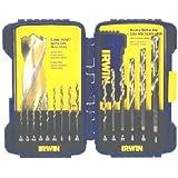 Irwin Industrial Tools 3018009 TiN Turbomax Pro Drill Bit Set, 15-Piece