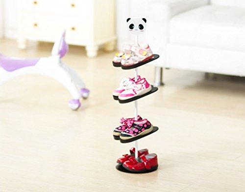 AddfunKids-SchuhregalKreativ-Bodenausfhrung-rotierend-Schuh-Lagerung-Gestell-Dreidimensional-Karikatur-Kinder-s-Mappe-SchuhregalPanda