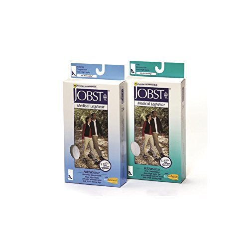 BSN Med/-Beiersdorf /Jobst (a) Jobst Activewear 15-20 Knee-Hi Socks White Medium by Jobst