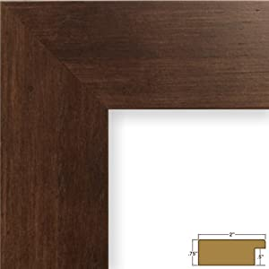 Craig Frames 74004 24 by 36-Inch Picture Frame, Smooth Wood Grain Finish, 2-Inch Wide, Dark Brown Rustic Pine