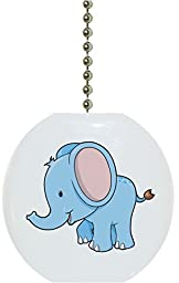 Carolina Hardware and Decor 1677F Baby Elephant Big Ears Ceramic Fan Pull