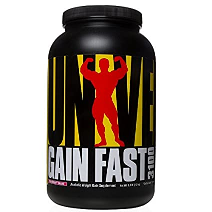 Universal Nutrition Gain Fast 3100, Strawberry, 1er Pack (1 x 2.3 kg)