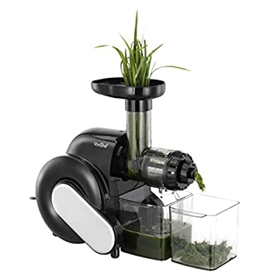 VonShef Wheatgrass Slow Juicer - Create Wheatgrass, Fruit & Vegetable Juices