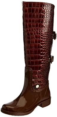 posh wellies Womens Seraphina Wellington Boots 0656 Chocolate Croc 3 UK, 36 EU