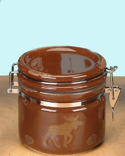 StealStreet SS-UG-PY-7261 Jar with Lid Brown Moose Airtight Collectible Decoration Tabletop Decor