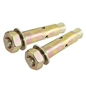 2 Pcs M10 x 70mm Hex Nut Expansion Bolt Sleeve Anchors