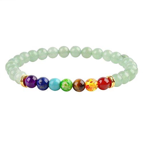 jovivi-7-chakra-pierres-bracelet-tibetain-extensible-elastique-pierre-aventurine-6mm-longueur-total-