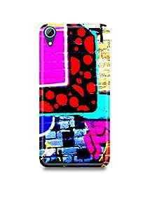 Colorful Graffiti HTC 728 Case