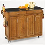 Large Black Cart with Granite Top