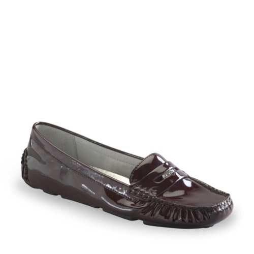 AK Anne Klein Women's Grefty Loafer,Wine Patent,8 M US