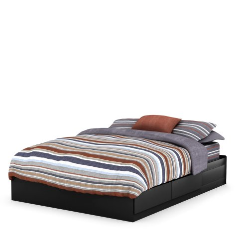 South Shore Vito Collection Queen 60-inch Mates Bed, Black