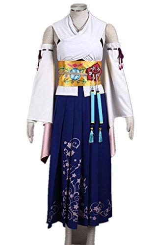 [Love Final Fantasy¢úFF10 Cosplay Costume-Yuna 15Pcs Set] (Yuna Ff10 Costume)