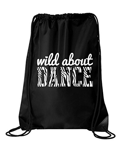 Activewear Apparel Small Zebra Wild About Dance Drawstring Bag