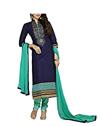 DivyaEmporio Women's faux Crepe Salwar Suit Dress Material