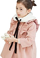 Little Hand Little Girls39 Turtle Neck Lacework With Button Design Dress Coat