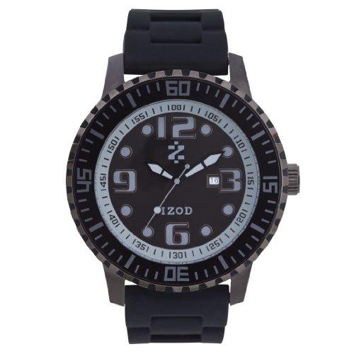 IZOD Men's IZS4/2 BLK/BLK Sport Quartz 3 Hand Watch